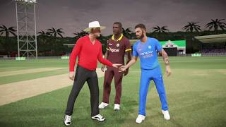 INDIA VS WEST INDIES ONLY T20 2017 IN DON BRADMAN CRICKET 17 PS4(INDIA TOUR OF WEST INDIES 2017)