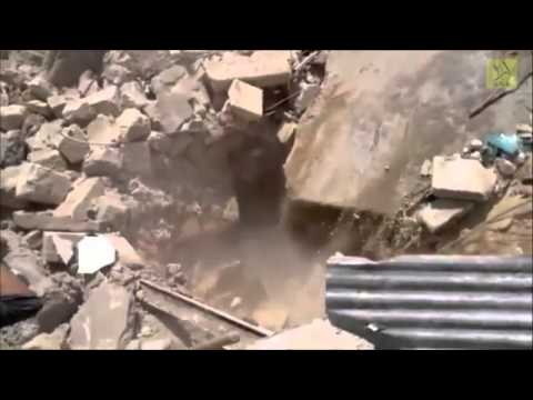 Rescuers become victims after the collapse of a house in Selqeen of Idlib, Syria