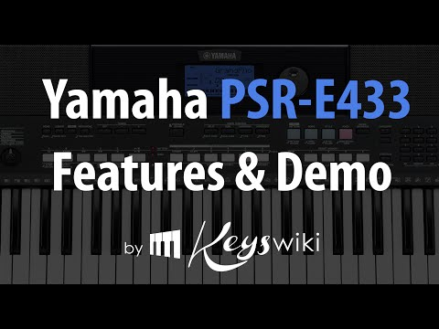 Yamaha PSR E 433. Features review and demo.
