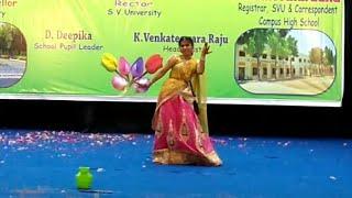 Rangamma mangamma || Rangasthalam || Dance Performance || SVU campus high school || Annual Day