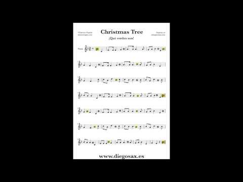 Christmas tree sheet music flute violin sax trumpet cello clarinet soprano tenor trombone bassoon