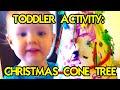 CONE CHRISTMAS TREE KIDS ART PROJECT!!! | LaneVids & TheFunnyrats