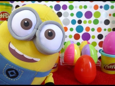 Play Doh Despicable Me 2 ! Kinder Surprise Eggs Frozen Angry Birds Hello Kitty Disney  Playdough video