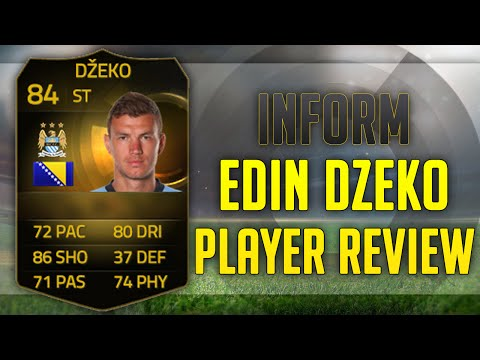 FIFA 15 | INFORM EDIN DZEKO (84) PLAYER REVIEW + IN GAME STATS!