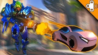 CARS RAIN FROM ABOVE! Overwatch Funny & Epic Moments 440
