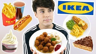 i only ate FOODS FROM IKEA for 24 hours