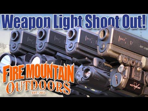 Webyshops Weapon Light Shootout: Crimson Trace. Viridian. Inforce and Streamlight