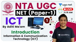 NTA UGC NET 2020 (Paper-1) | ICT by Aditi Ma'am | Information & Communication Technology (ICT) Intro