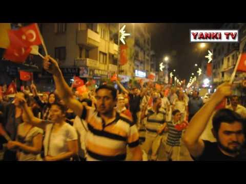 TURGUTLU ASKERİ KALKISMA PROTESTO EDİLDİ