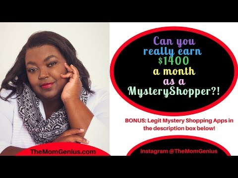Can you really earn $1400 a month as a mystery shopper?!