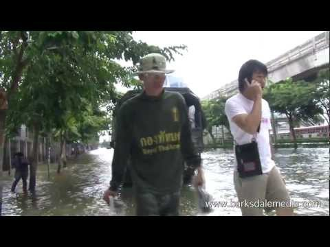 Bangkok, Thailand Flood Emergency, November 10, 2011 PART 1