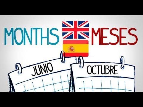 Los Meses En Español - Inglés