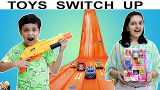 TOYS SWITCH UP CHALLENGE | Mystery Box | Aayu and Pihu Show