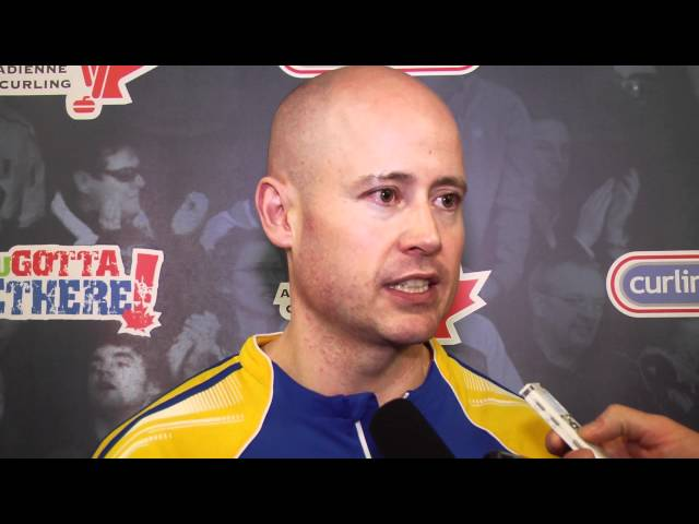 2012 Tim Hortons Brier Draw 2 Media Scrum