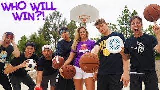 INFLUENCER ALL SPORTS TRICK SHOT BATTLE!