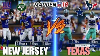 CAN THE BEST PLAYERS FROM NEW JERSEY TEAMS BEAT THE BEST PLAYERS FROM TEXAS TEAMS? Madden 19