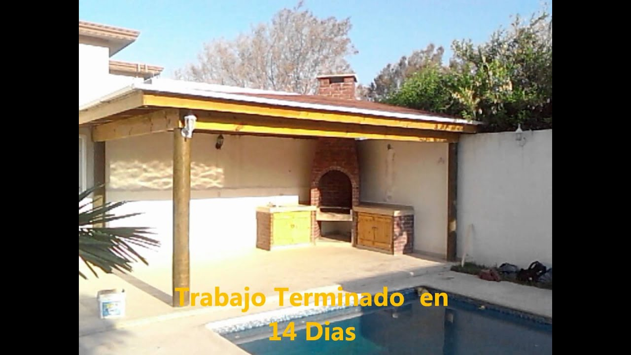 Palapa de madera proceso de construccion youtube for Construccion de piscinas con ladrillos