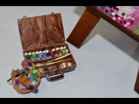 Как сделать для кукол краски и кисточку