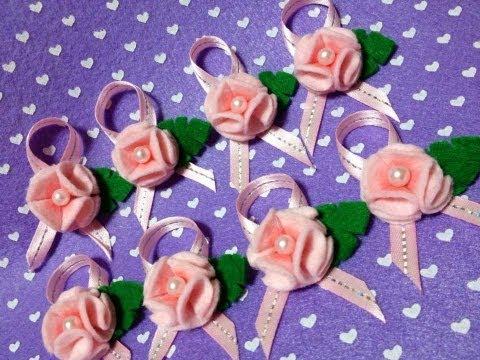 Como fazer Florzinhas em feltro !!!  (- Felt Flower Tutorial ...)