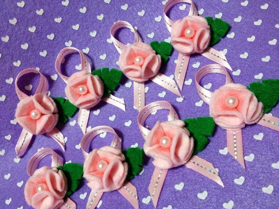 Adesivos Personalizados Infantil De Parede ~ Como fazer Florzinhas em feltro !!! ( Felt Flower Tutorial ) YouTube