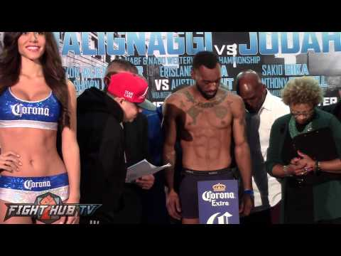 Zab Judah vs  Paulie Malignaggi full weigh in video HD