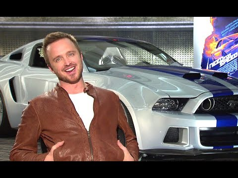 Aaron Paul Interview - Need For Speed (2014) JoBlo.com HD