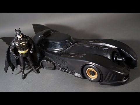 Batmobile Kenner Batman Returns Dark Knight Collection 1989 Vehicle Toy Review
