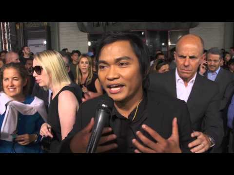 Furious 7: Tony Jaa Official Red Carpet Movie Premiere Interview   การสัมภาษณ์ video
