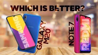 Samsung Galaxy M20 vs Redmi Note 7 - Price | Specs | Camera | Launch Date in India