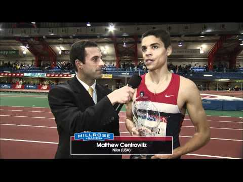 Matthew Centrowitz winner NYRR Wanamaker Mile broadcast interview