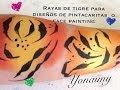 RAYAS DE TIGRE PARA PINTACARITAS O FACEPAINTING