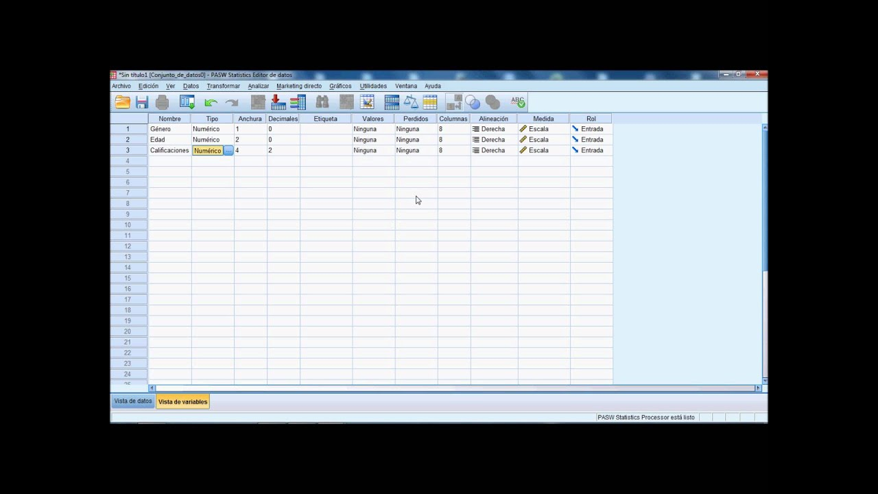 Tutorial cómo utilizar SPSS.wmv - YouTube