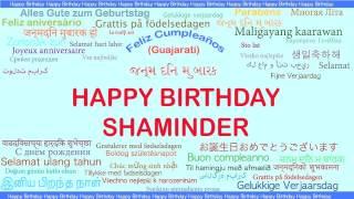 Shaminder   Languages Idiomas - Happy Birthday