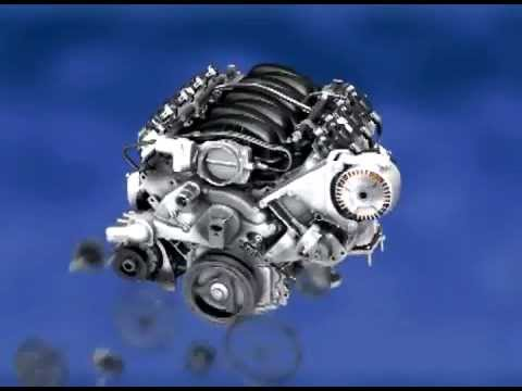 GM Z06 Corvette LS7 V8 Engine Assembly Animation