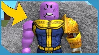 PLAYING AS THANOS IN ROBLOX SUPER HERO TYCOON