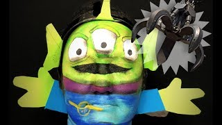 TOY STORY ALIEN MAKEUP TUTORIAL!