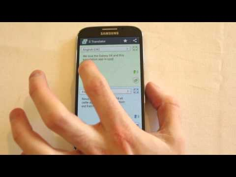 Galaxy S4 S Translator Review talk in new languages