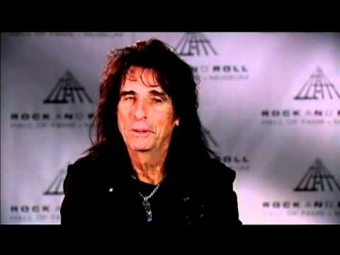 Alice Cooper talks about his early stage shows at the 2011 Inductions