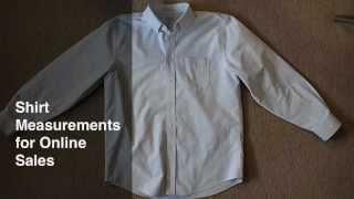 Quick Tutorial: Shirt Measurements for Online Sales
