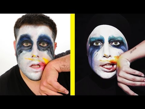 Guys Try Iconic Lady Gaga Music Video Looks