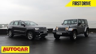 Jeep Grand Cherokee & Wrangler Driven In India | Autocar India