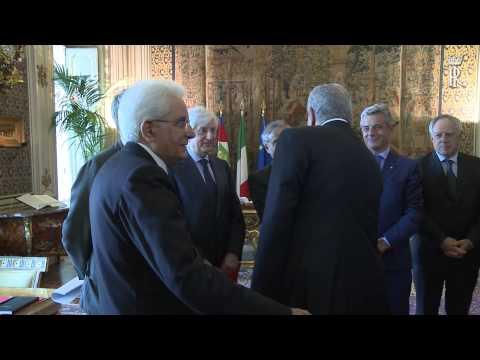 Incontro del Presidente Mattarella con il Primo ministro Egiziano Mahlab