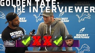 Golden Tate Grills his Former Lions Teammates with Tough Questions | NFL Rush