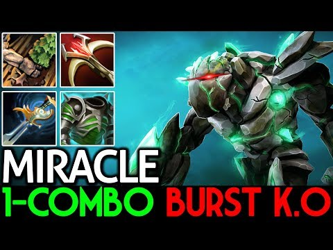 Miracle- [Tiny] Insane 1-Combo Burst K.O 7.15 Dota 2