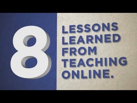8 Lessons Learned From Teaching Online video