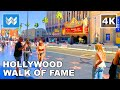 Walking the entire Hollywood Walk of Fame in Los Angeles, California USA 2020 Travel Guide 🎧 【4K】