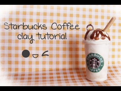 Fimo Starbucks Coffee - Polymer Clay Tutorial