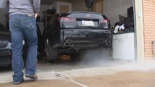 2008 Lexus IS-F Stock and Borla Axle-Back Exhaust
