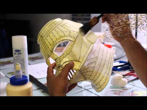 Darth Vader Helmet Part 2 (Strengthing the Paper) - Craft Dad