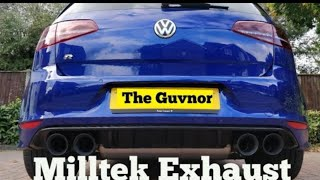 VW MK 7 Golf R DSG Standard Vs Milltek Non Resonated Exhaust - Comparison